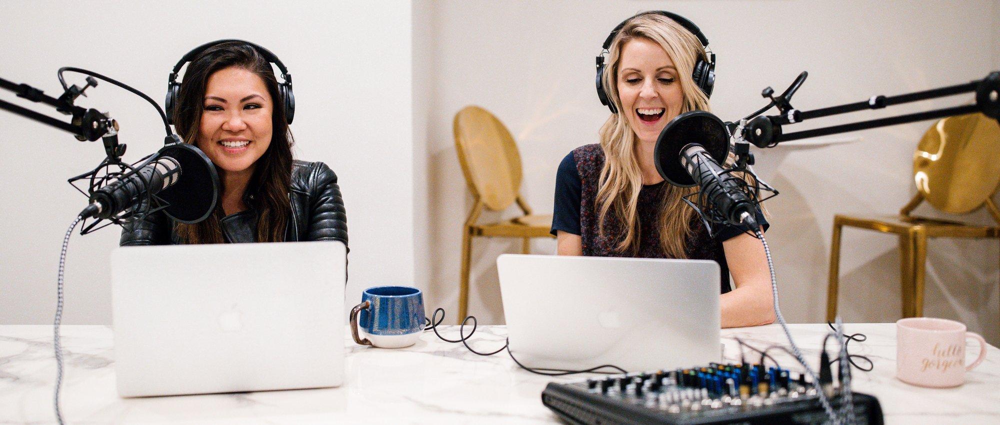 Amanda and Alicia, Hosts of EvolveHer Unpacked Podcast