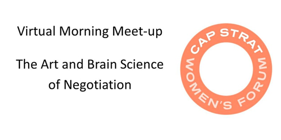 CAPSTRAT virtual morning meetup graphic